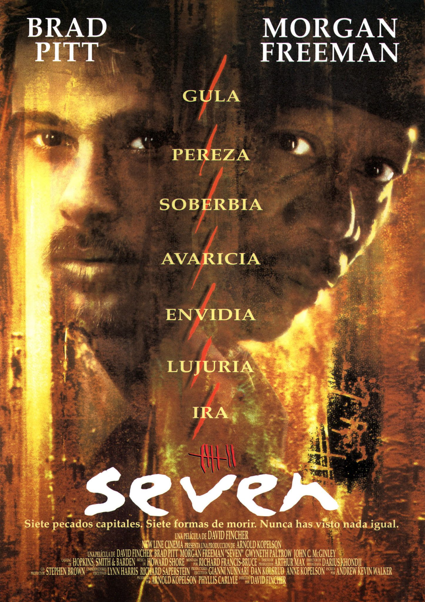 Poster for the movie «Seven»