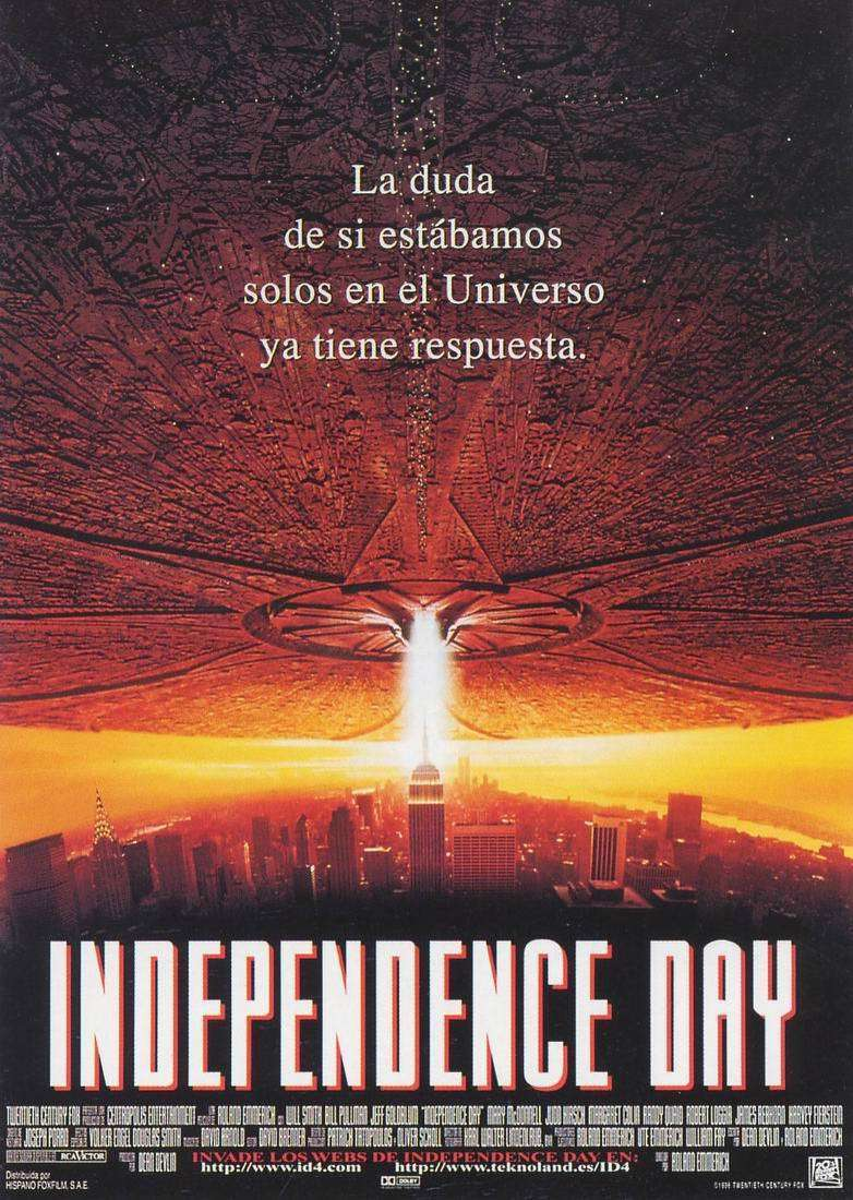 Poster for the movie «Independence Day»