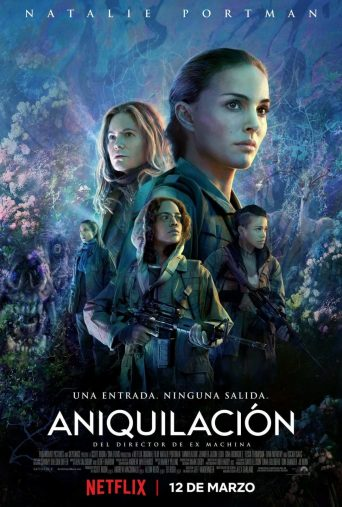 "Poster for the movie ""Aniquilación"""