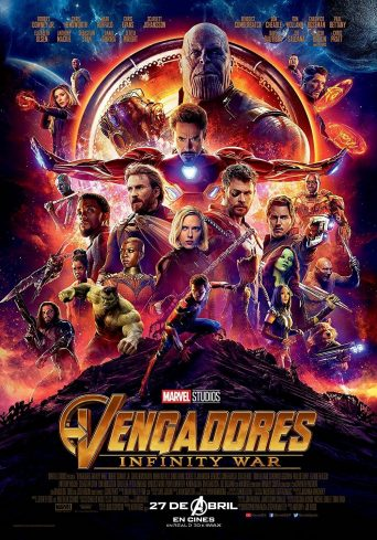 """Poster for the movie """"Vengadores: Infinity War"""""""