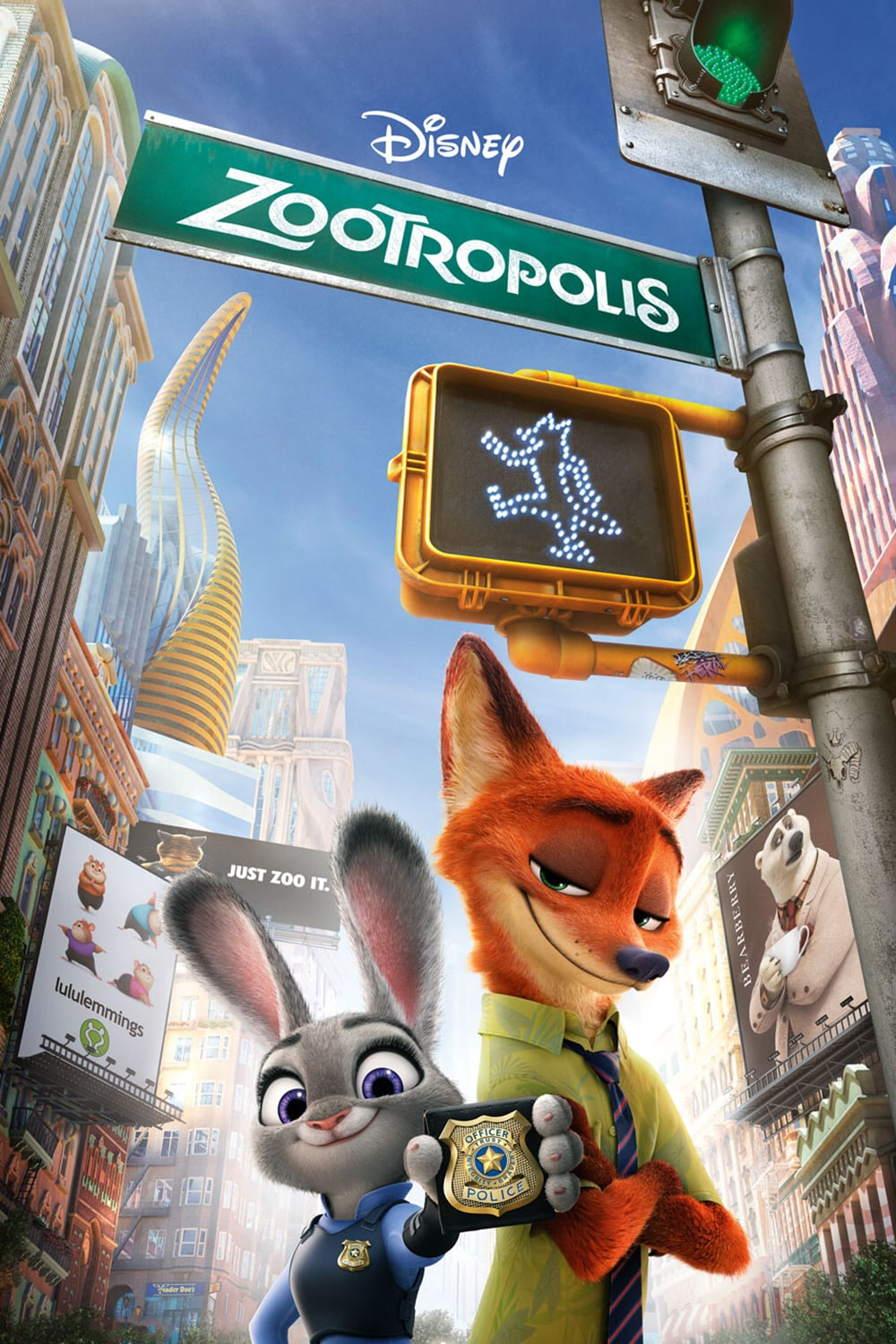 "Poster for the movie ""Zootrópolis"""