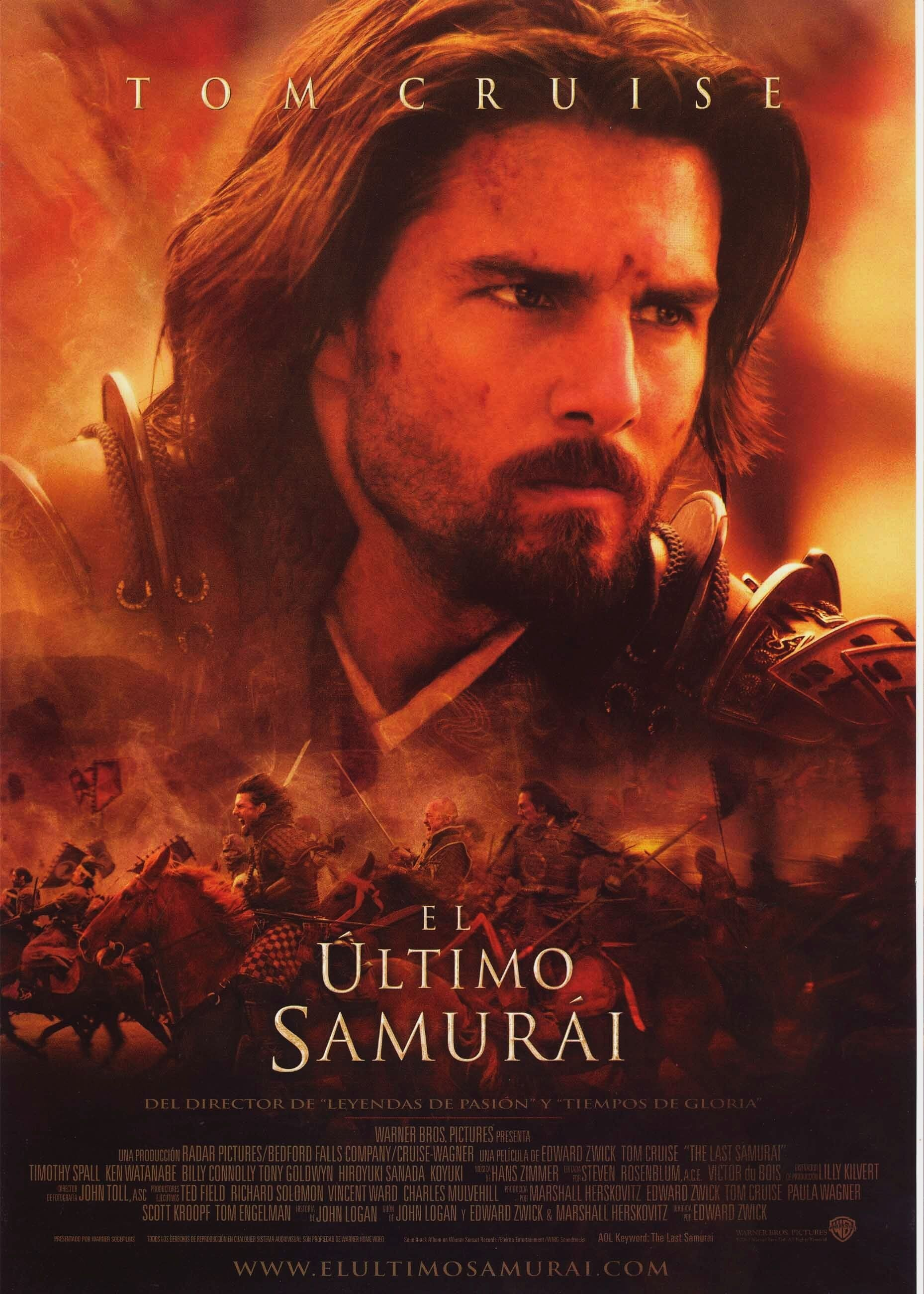 "Poster for the movie ""El último samurái"""