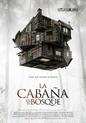 "Poster for the movie ""La cabaña en el bosque"""
