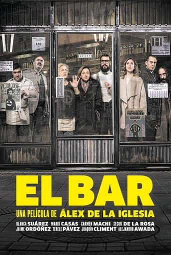 "Poster for the movie ""El bar"""