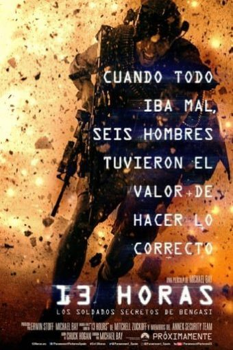 "Poster for the movie ""13 Horas: Los soldados secretos de Bengasi"""