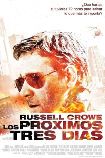 "Poster for the movie ""Los próximos tres días"""