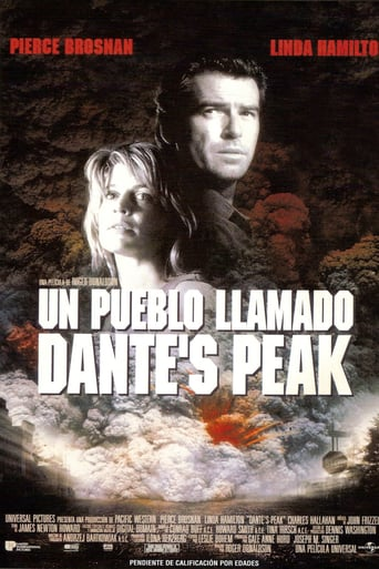 "Poster for the movie ""Un pueblo llamado Dante's Peak"""