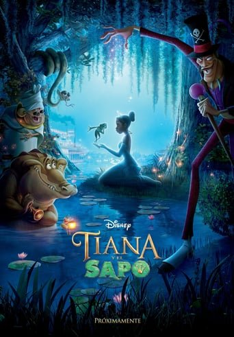 "Poster for the movie ""Tiana y el sapo"""