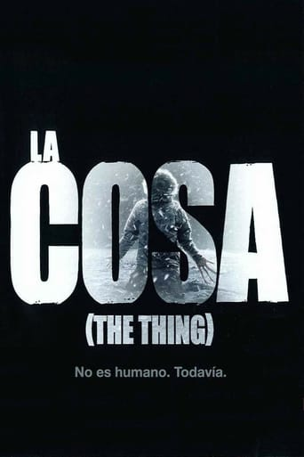 "Poster for the movie ""La cosa (The Thing)"""