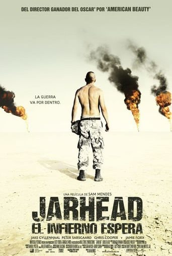 "Poster for the movie ""Jarhead, el infierno espera"""