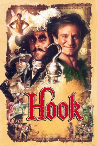 "Poster for the movie ""Hook (El capitán Garfio)"""