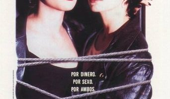 "Poster for the movie ""Lazos ardientes"""