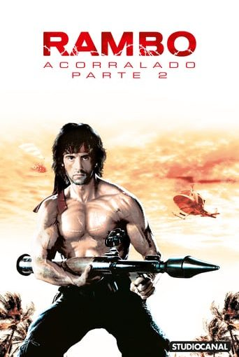 "Poster for the movie ""Rambo: Acorralado Parte II"""