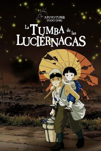 "Poster for the movie ""La tumba de las luciérnagas"""